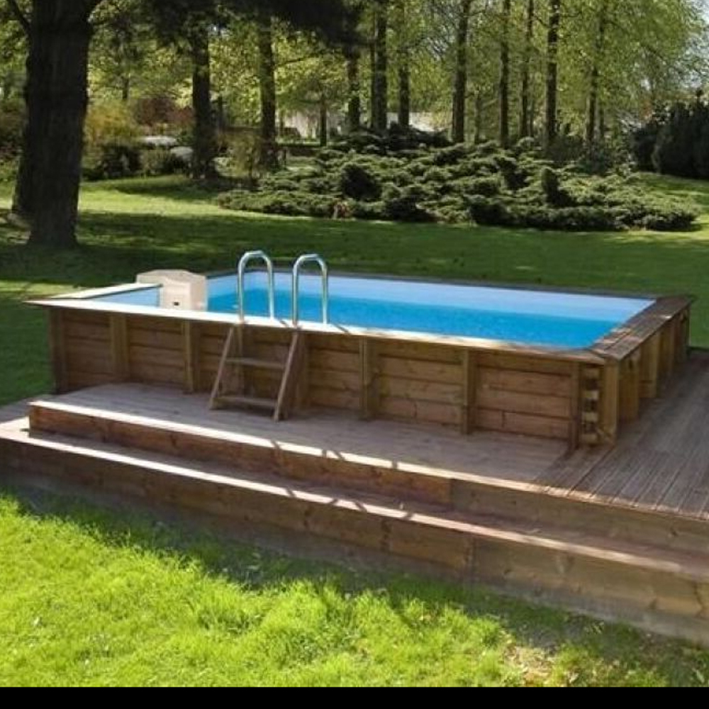 Piscine Woodfirst Original rectangulaire 620 x 420 x 133 cm