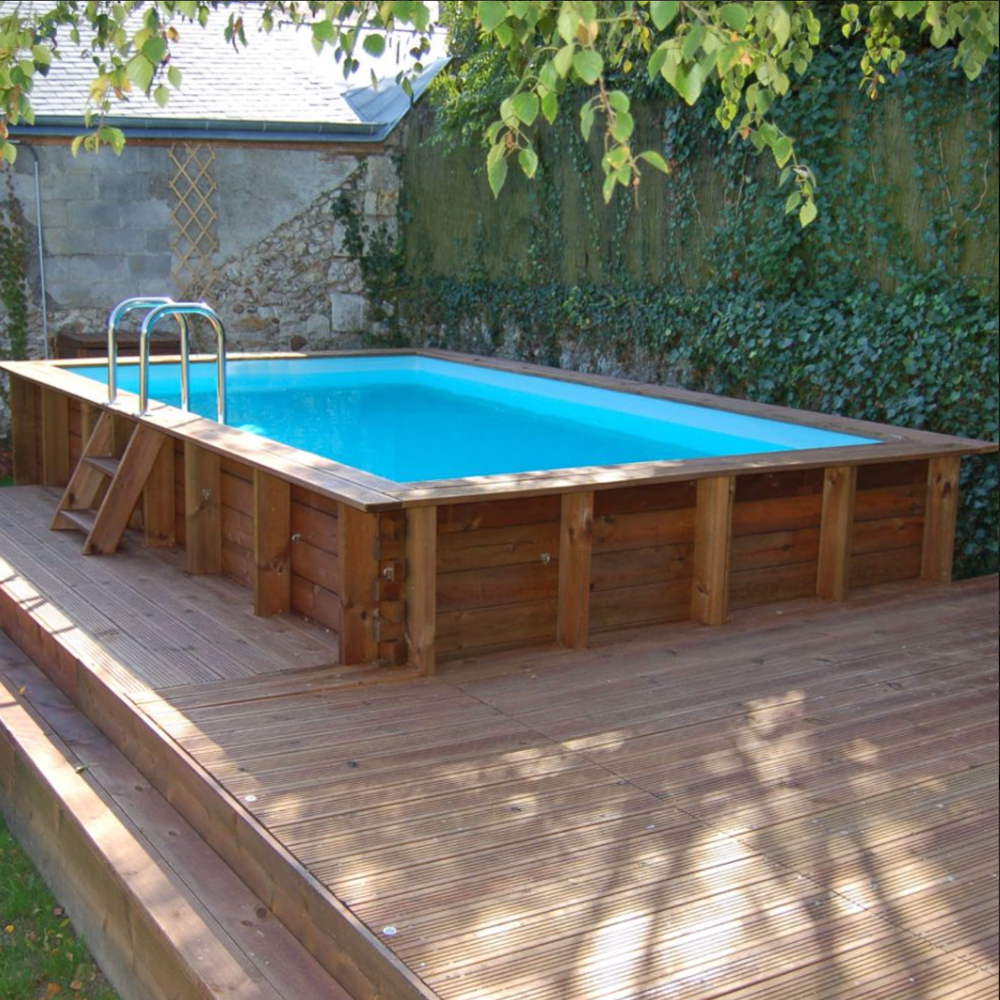 Piscine Woodfirst Original rectangulaire 815 x 420 x 146 cm
