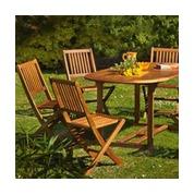 Salon repas de jardin en bois