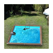Waterclip Piscine bois Alu Carrée