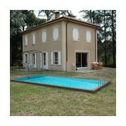 Waterclip Piscine bois Alu Rectangle