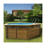 Piscine bois Woodfirst Original hexagonale 412 x 119 cm