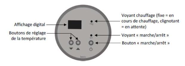 rechauffeur redline plus - tableau controle