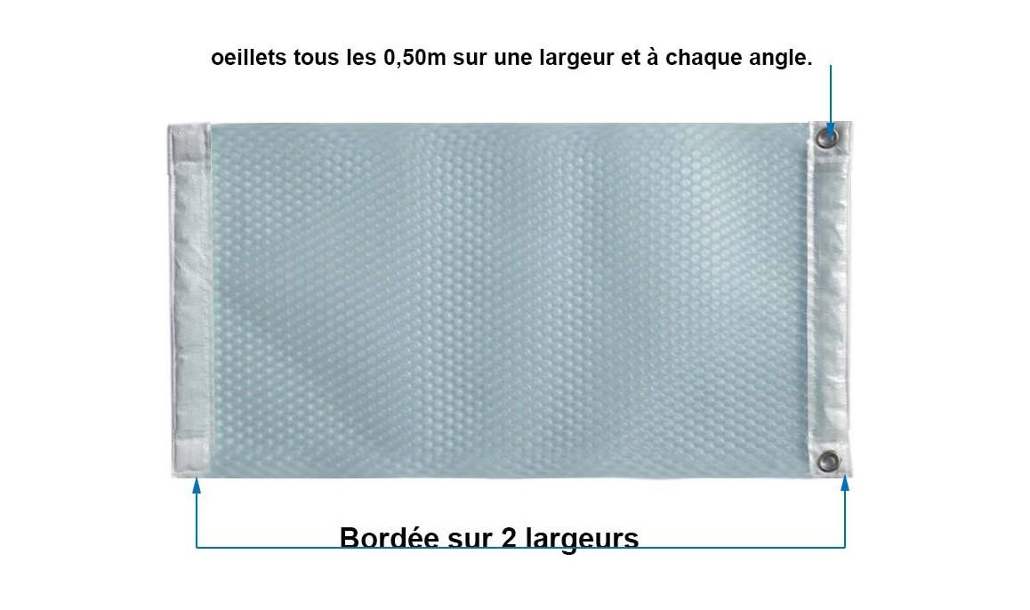 descriptif de la bâche à bulles sur mesure solaire magic 400 duo translucide