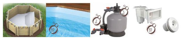 piscine bois weva rectangulaire equipement