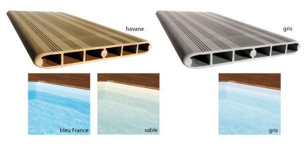 Odyssea recto piscine bois facilit de montage et for Piscine acier couleur bois