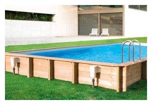 Odyssea recto piscine bois facilit de montage et for Piscine composite rectangulaire