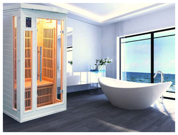 soleil blanc sauna infrarouge photo d'ambiance intérieur