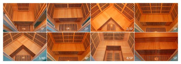 sauna infrarouge vue interieure