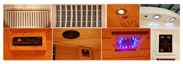 sauna infrarouge soleil blanc equipement