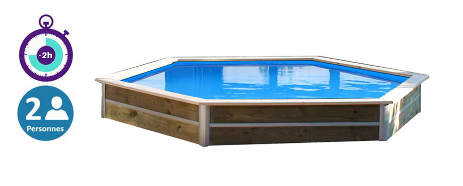 Piscine bois waterclip hauteur 40cm adapt e pour les for Bcf international piscine