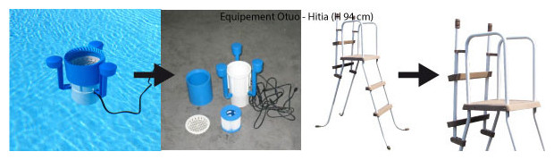 piscine bois waterclip equipement H 94 cm