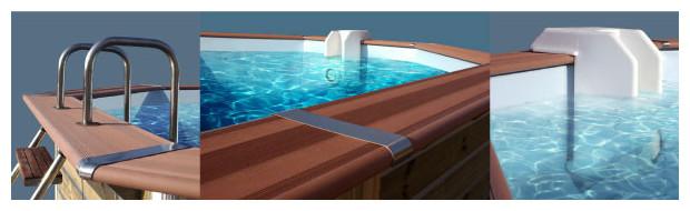 piscine en bois waterclip equipement margelle skimmer echelle