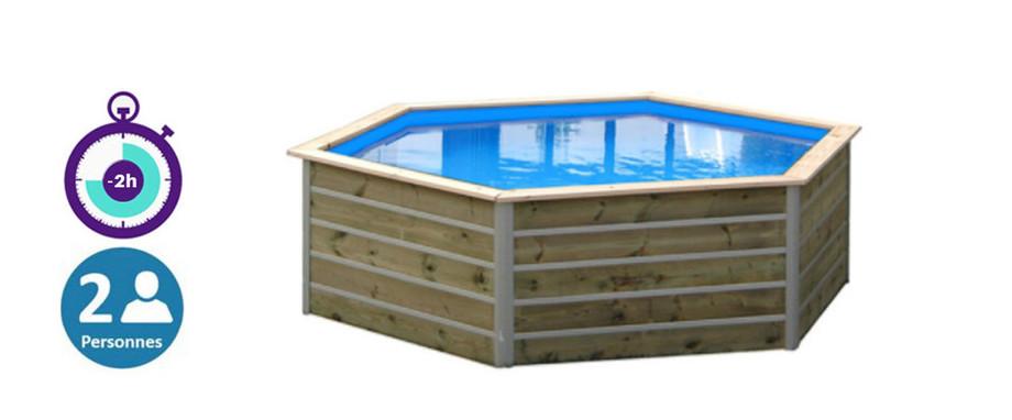 avantage du montage de la piscine bois sibuyan waterclip