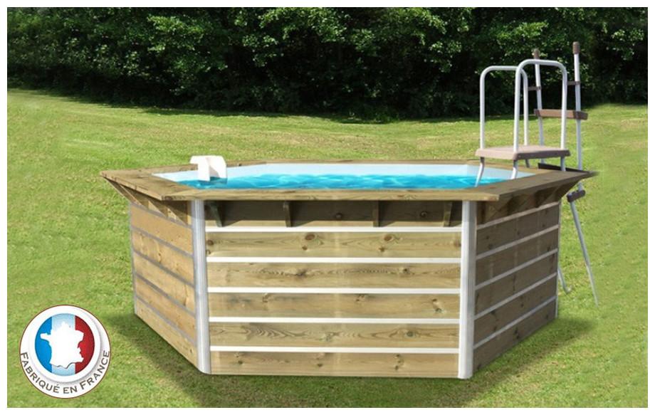 piscine bois hexagonale waterclip cebu en situation