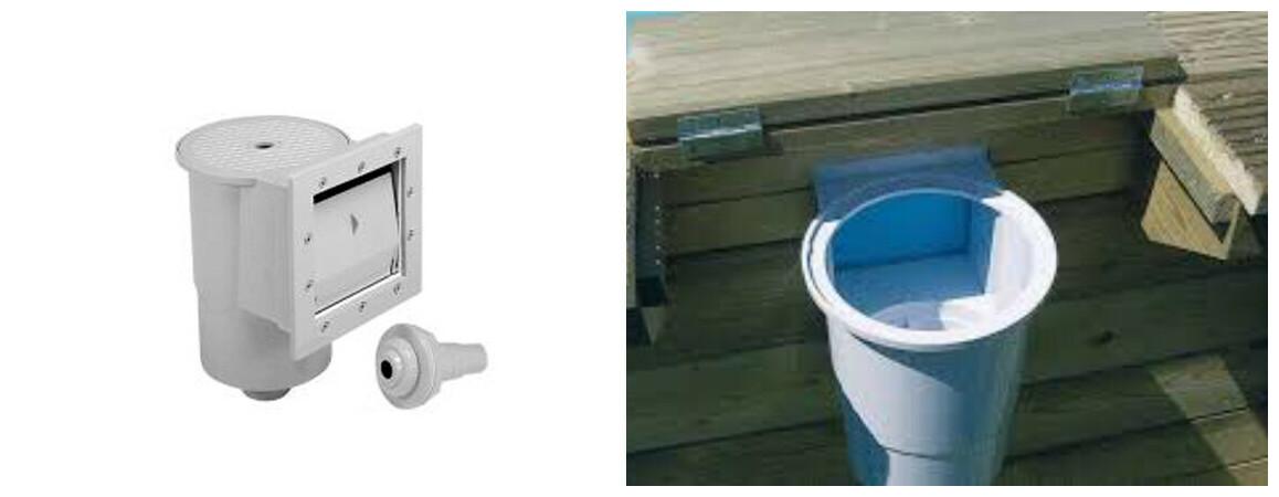skimmer intégré aux panneaux pour piscine bois waterclip cebu