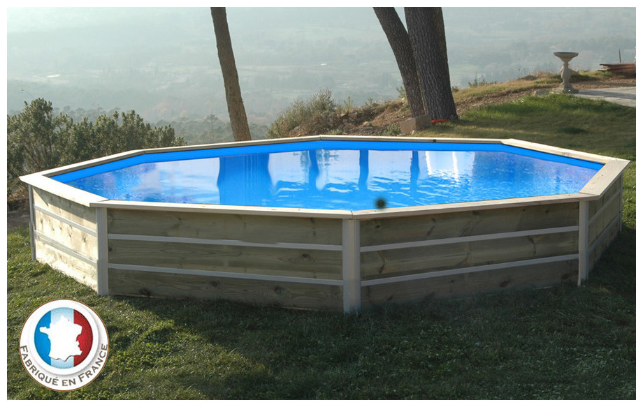 piscine bois waterclip octogonale hauteur 58cm 460cm piscine center net. Black Bedroom Furniture Sets. Home Design Ideas