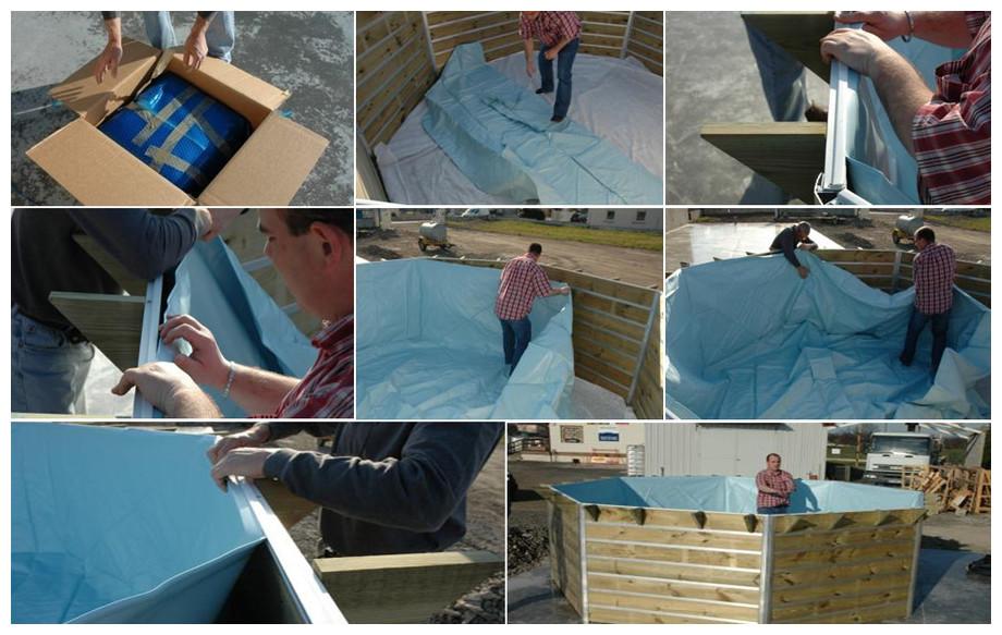 liner piscine bois octogonale waterclip leyte