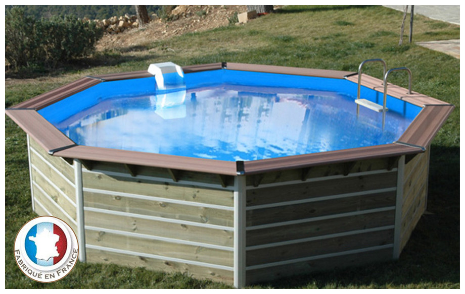 Piscine bois waterclip octogonale hauteur 111cm 444cm for Piscine center