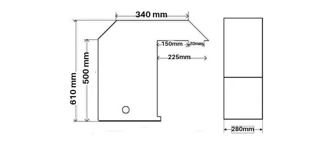 dimensions du kit hors bord pour piscine waterclip cleofas
