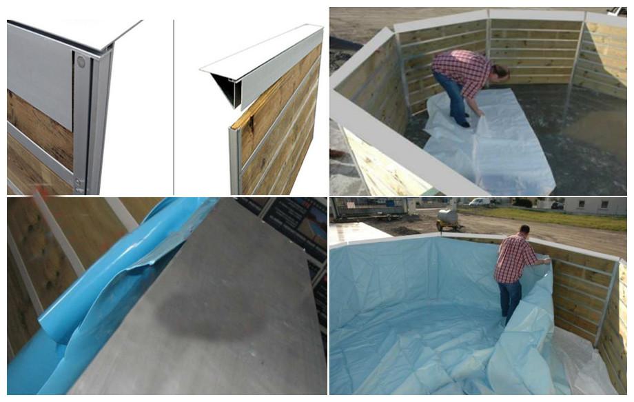 liner piscine bois waterclip avec système easy fix
