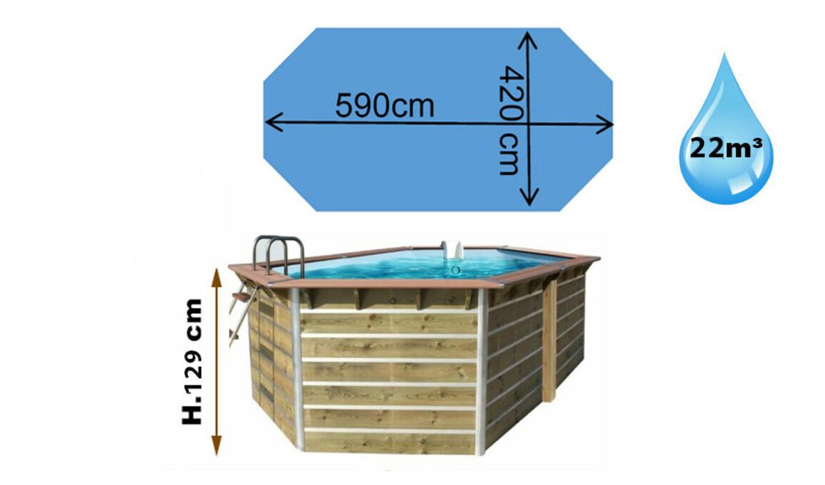 Dimensions de la piscine bois waterclip fugua