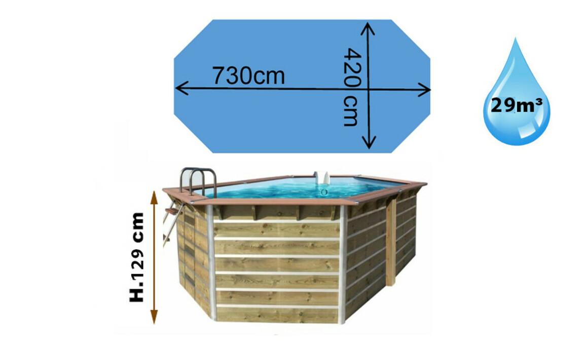 dimensions piscine bois siayan waterclip