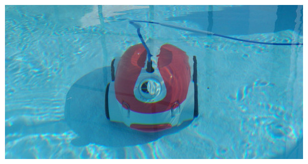robot de piscine waterclean- immergé
