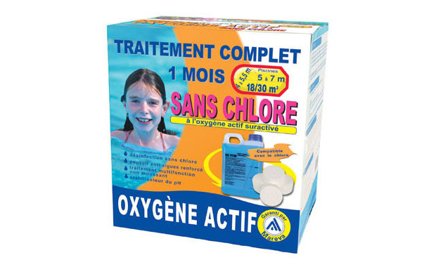 Oxygene actif en kit piscine center net for Traitement piscine oxygene actif