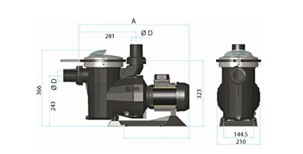 pompe pisicne B2B blmanche dimensions
