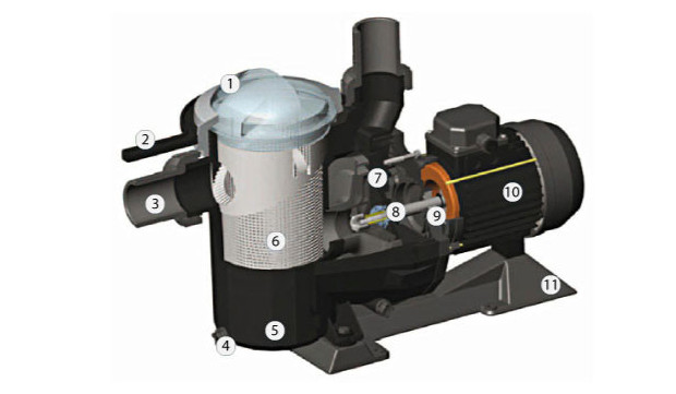 pompe filtration B2B découpe intérieure