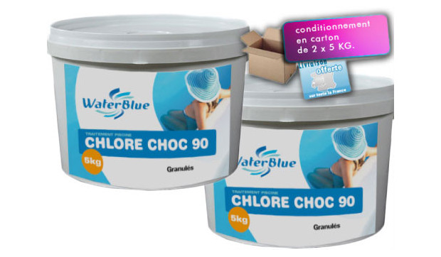 chlore choc conditionnement seaux