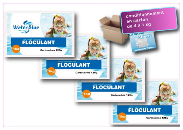 PAC FLOCULANT PISCINE WATERBLUE