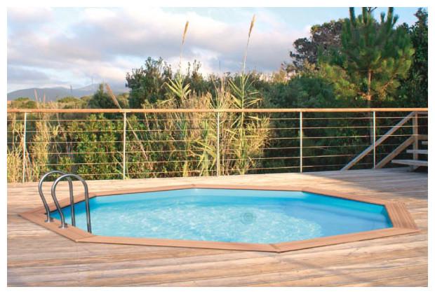 Odyssea octo le kit piscine bois pr fabriqu tout inclus for Liner pour piscine octogonale