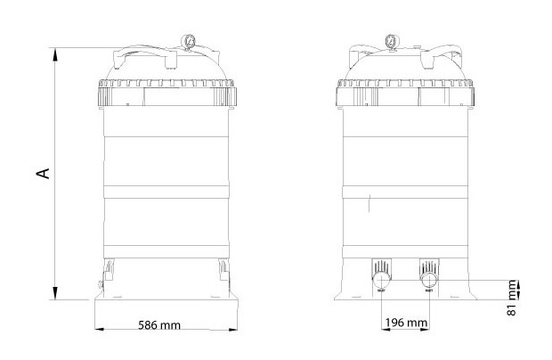 viron filtre cartouche piscine dimensions