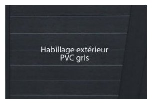spa portable water'health habillage exterieur PVC gris