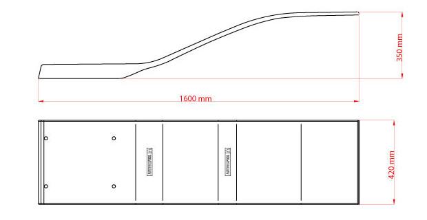 plongeoir piscine delfino blanc 160cm dimensions