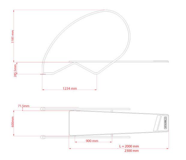 plongeoir dynamic arceaux dimensions