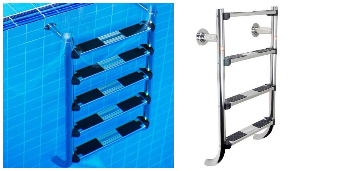 caractéristiques de l'échelle inférieur pour piscine enterrée à volet ou couverture