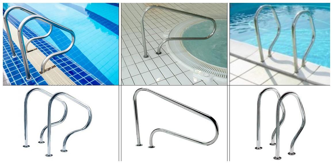 main courante en supplément pour échelle piscine enterrée