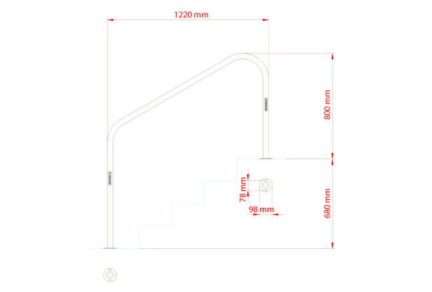 sortie bain piscine inox dimensions 1220 mm a visser