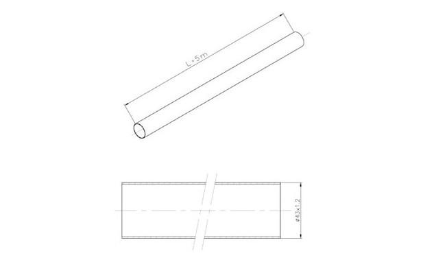 barre inox tube ouvert schema