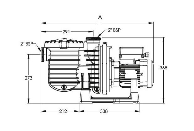 sta rite pompe filtration dimensions