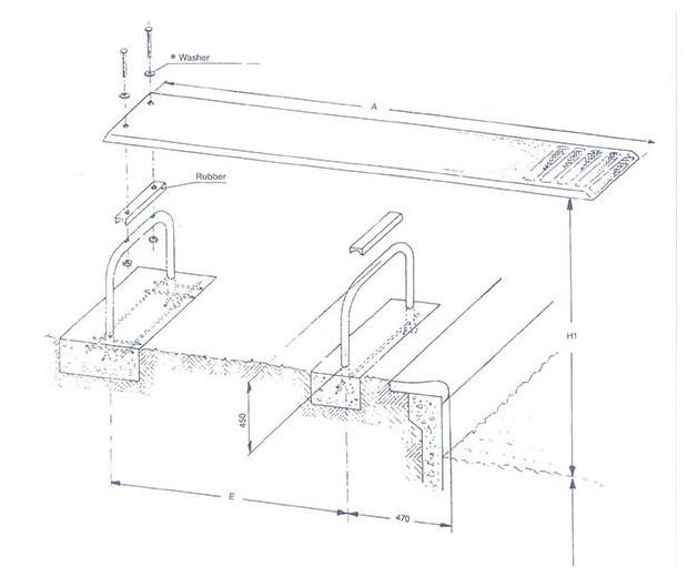 planche plongeoir piscine schema installation