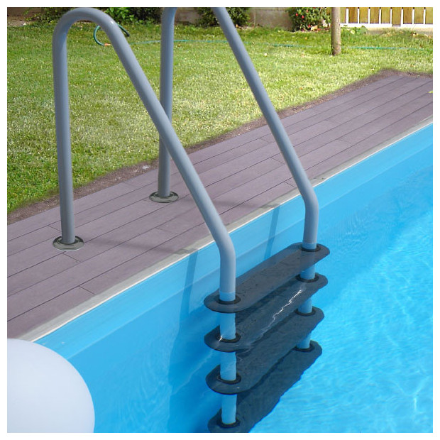 Echelles sp cial traitement d 39 lectrolyse inattaquables for Marche piscine