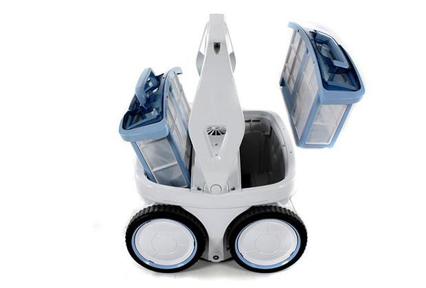 D10 robot picine vue cassettes Top Access