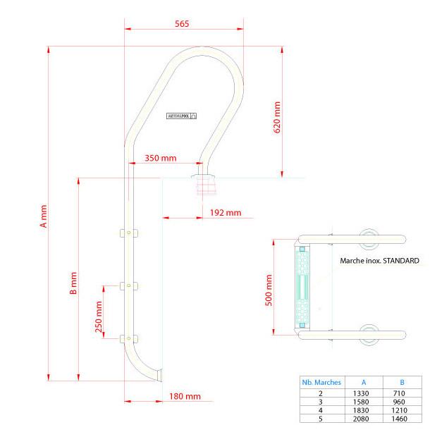 echelle mixte dimensions