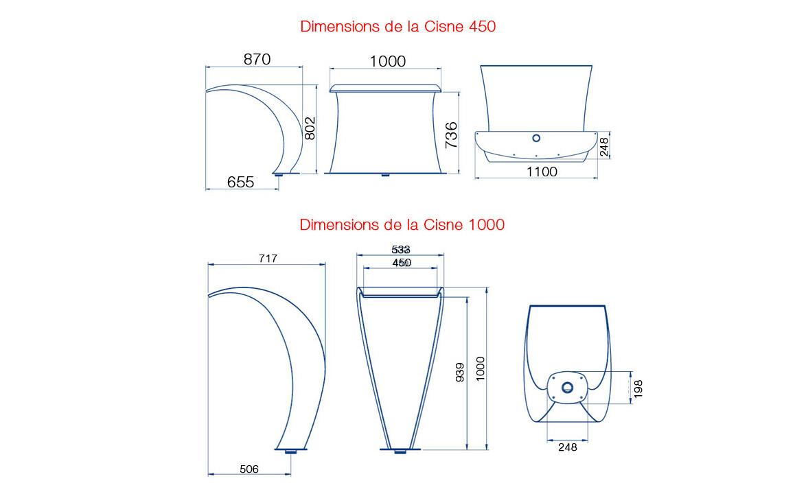 dimensions de la cascade de piscine cisne astral
