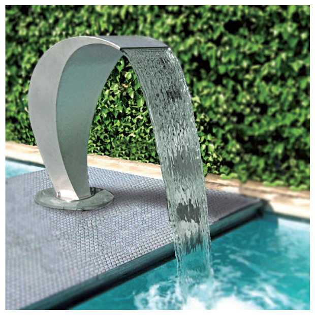 Cascade piscine cisne en inox piscine center net for Piscine avec cascade d eau