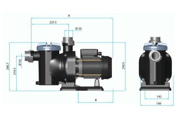 pompe de filtration Sena dimensions